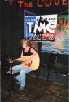 Nancy Thomas at the open mic that followed.